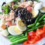 Tuna Nicoise Salad with Black Olive Vinaigrette