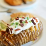 Cheddar Ranch Hasselback Potatoes {with Barber Foods}