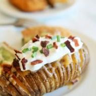 Cheddar Ranch Hasselback Potatoes