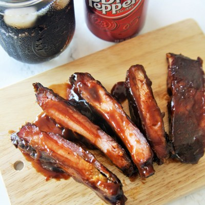 Dr Pepper Chipotle Ribs {Slow Cooker Method}