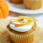 Pumpkin Caramel Cupcakes with Whipped Mascarpone Frosting