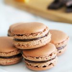 Dark Chocolate Orange Macarons