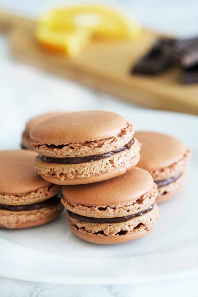 dark-chocolate-orange-macarons-2