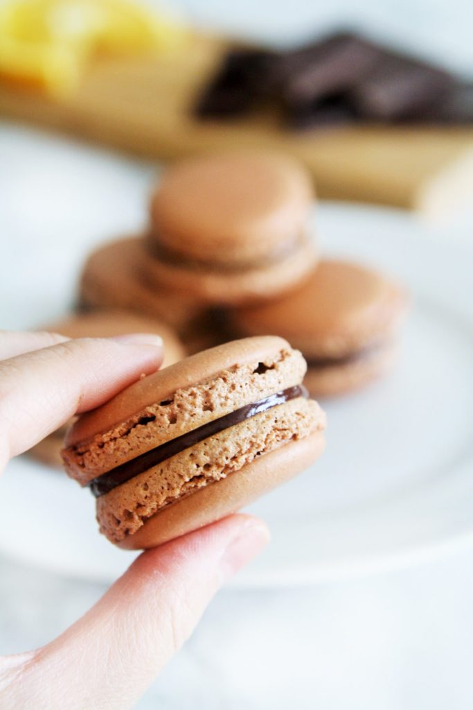 dark-chocolate-orange-macarons-6
