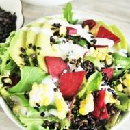 Superfood Salad Bowl with Lemon Tahini Dressing
