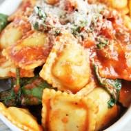 Spinach Tomato Ravioli Bake