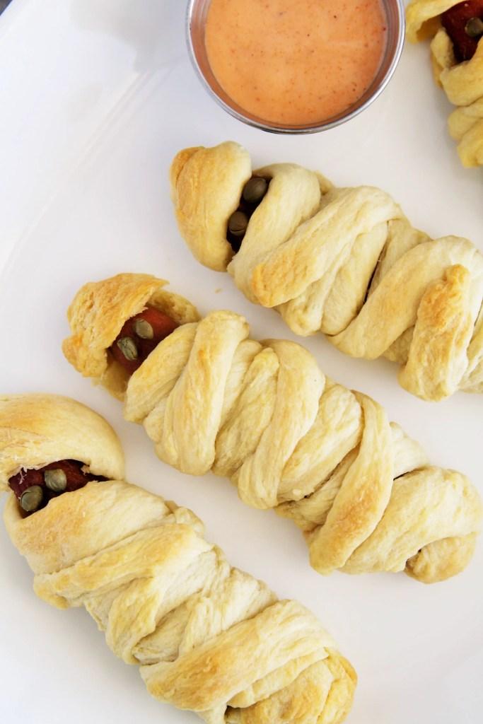 mummy-hot-dogs-sriracha-sauce-2