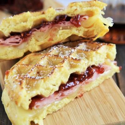 Monte Cristo Waffle Sandwiches