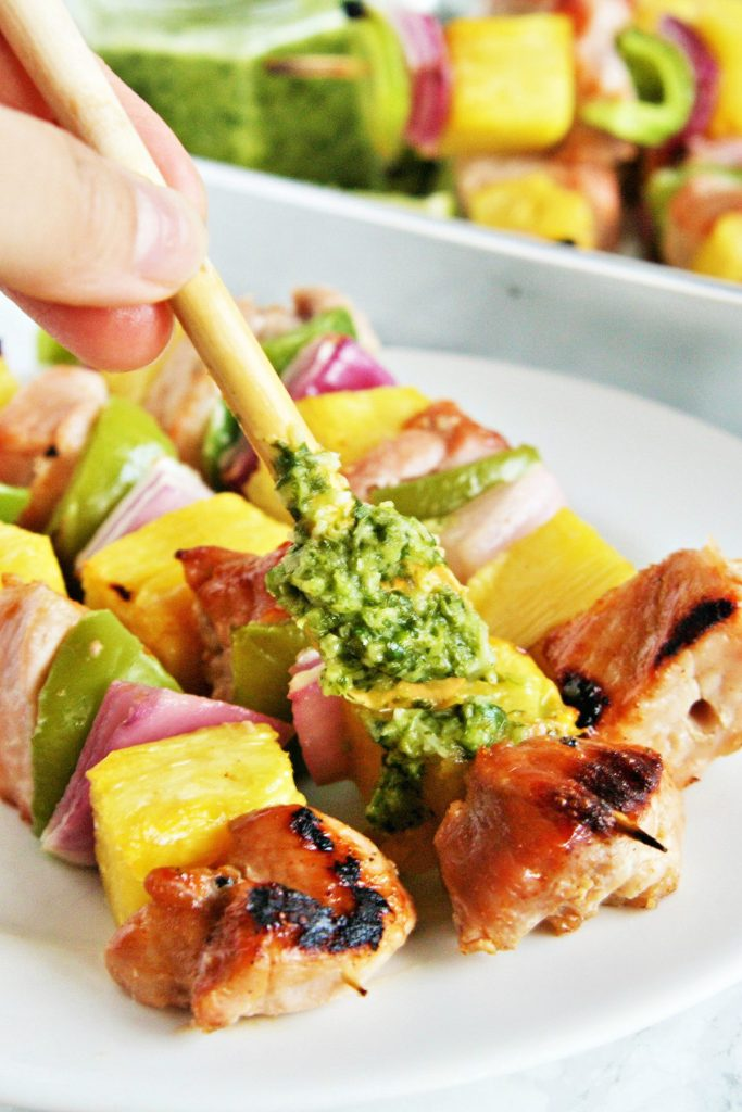 Juicy, tender pork al pastor kebabs skewered with pineapple, peppers, and sweet onions - these skewers are a staple during grilling season and easy enough for any day of the week!