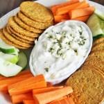 5-Ingredient Roasted Garlic Feta Cheese Dip