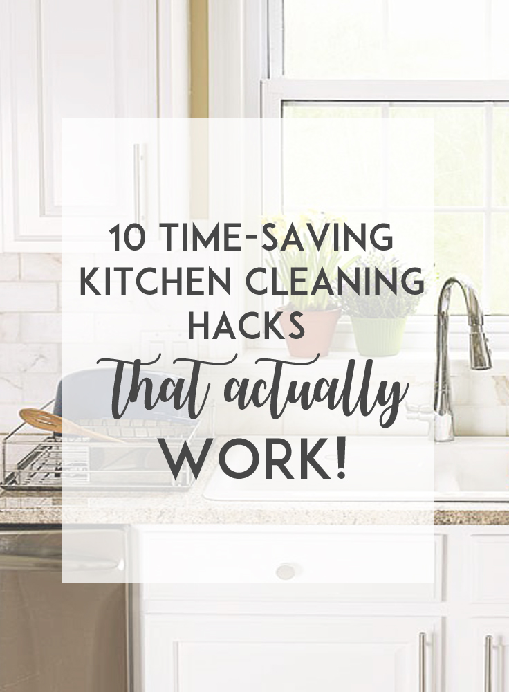 Are you looking to save time and effort when cleaning the kitchen? In this post, I'm sharing some time-saving and effective kitchen cleaning hacks, that actually work!