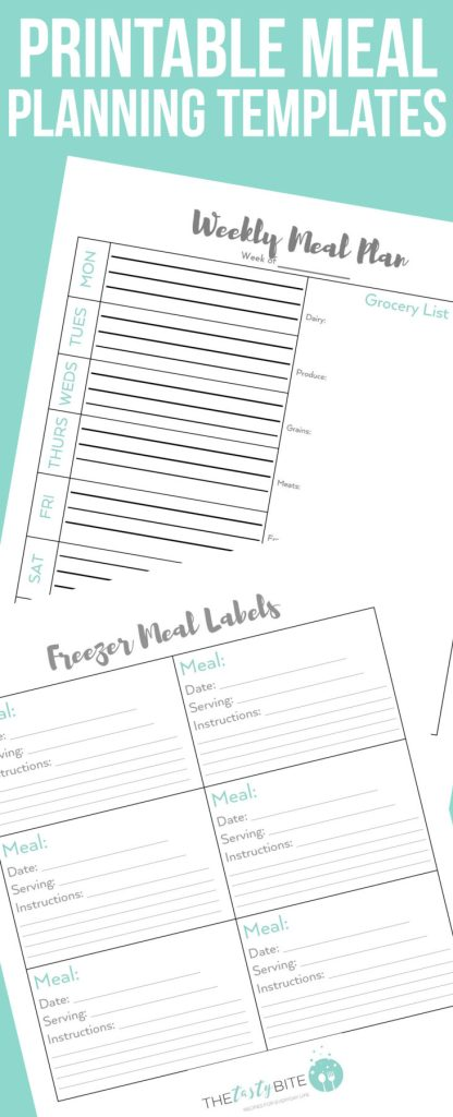 meal planning templates to simplify your life the tasty bite