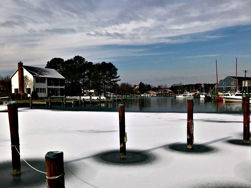 snowy St. Michaels