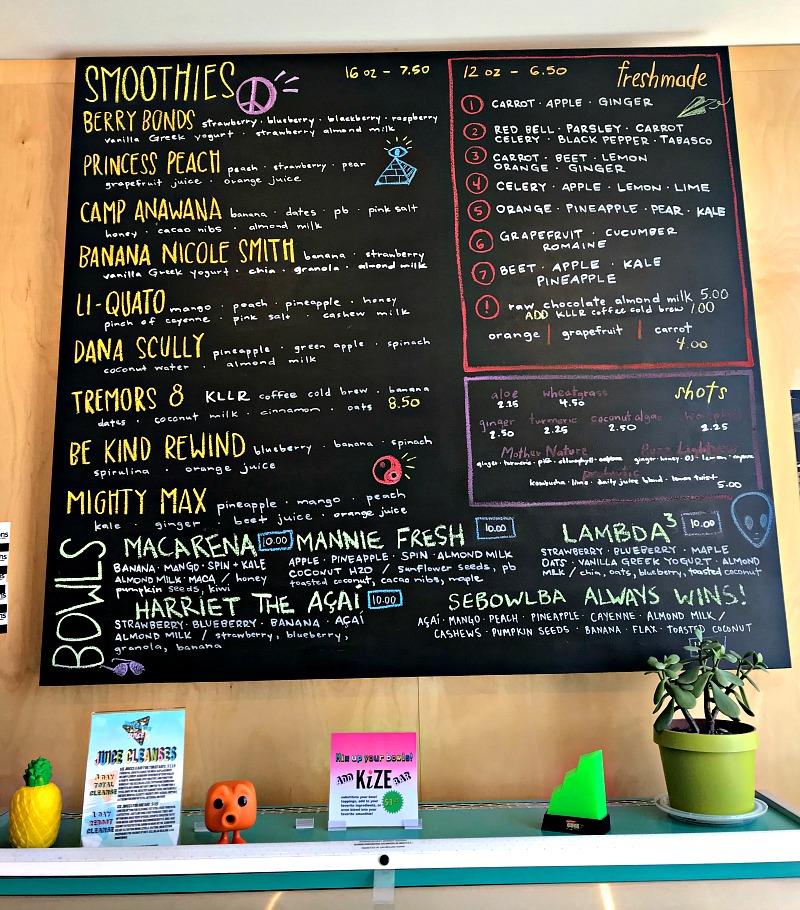 Wheeze the Juice OKC menu