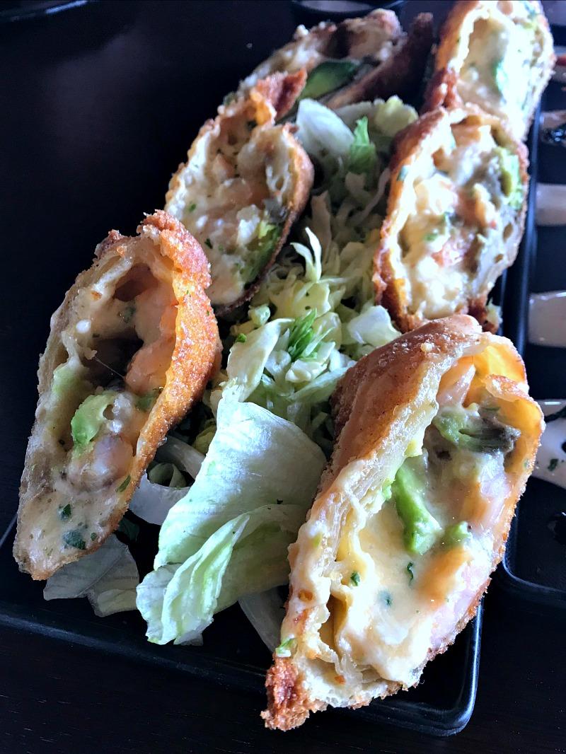 shrimp and avocado egg rolls