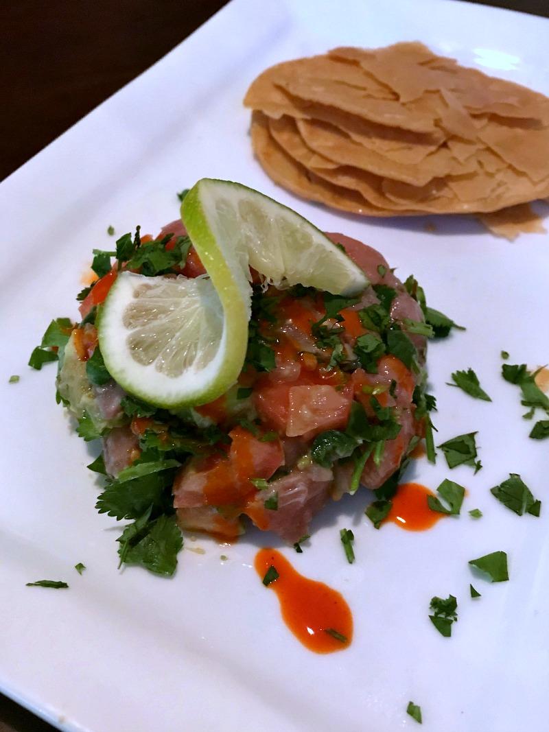 drunken tuna tartare