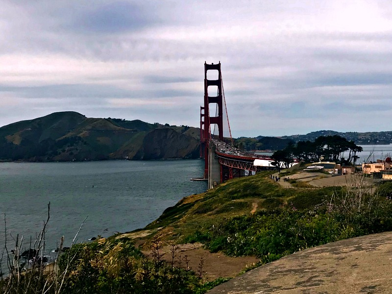 Golden Gate Bridge distant view
