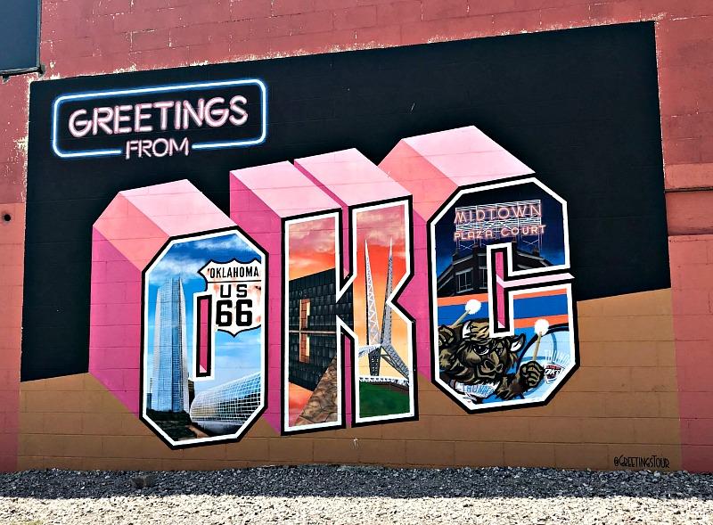 Greetings from OKC mural