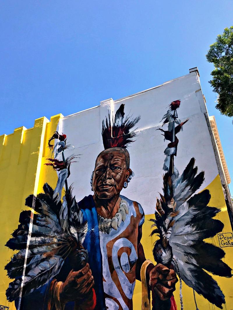 Quapaw mural Hot Springs