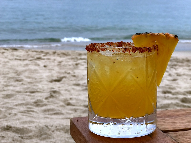 cocktail on the beach puerto vallarta