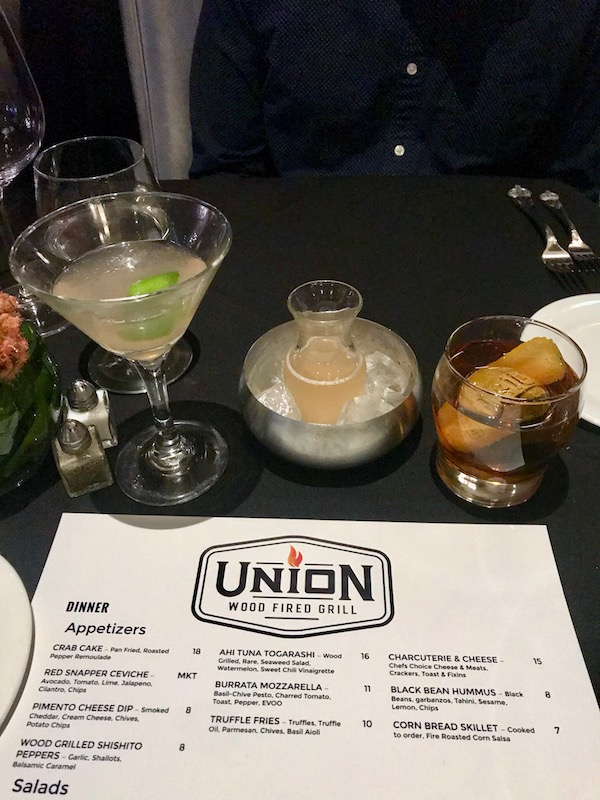 Union Wood Fired Grill cocktails