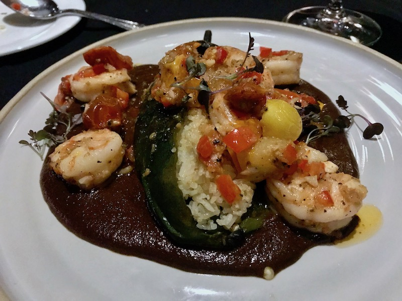 Wood Fired Grill shrimp poblano