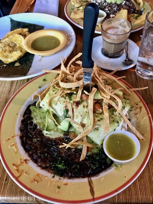 Cafe Kacao creamy cilantro burrito