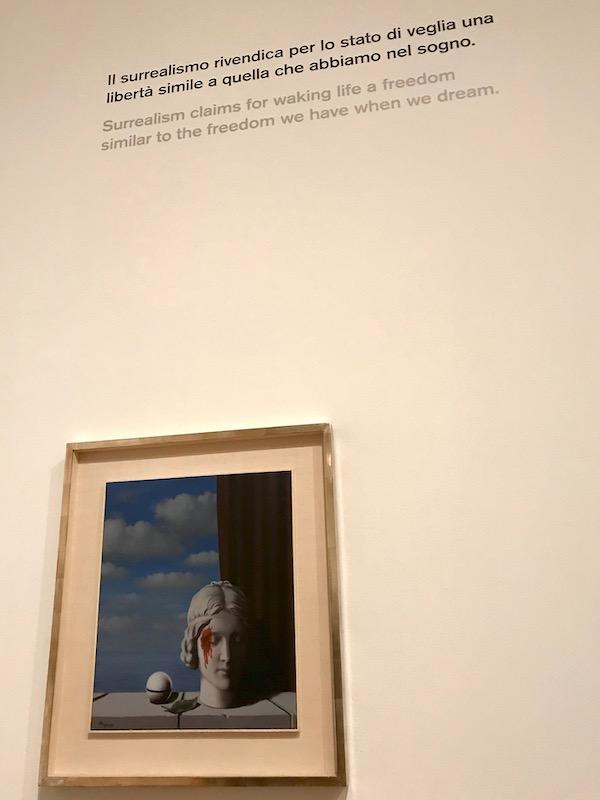 Magritte La vigne de vie exhibit