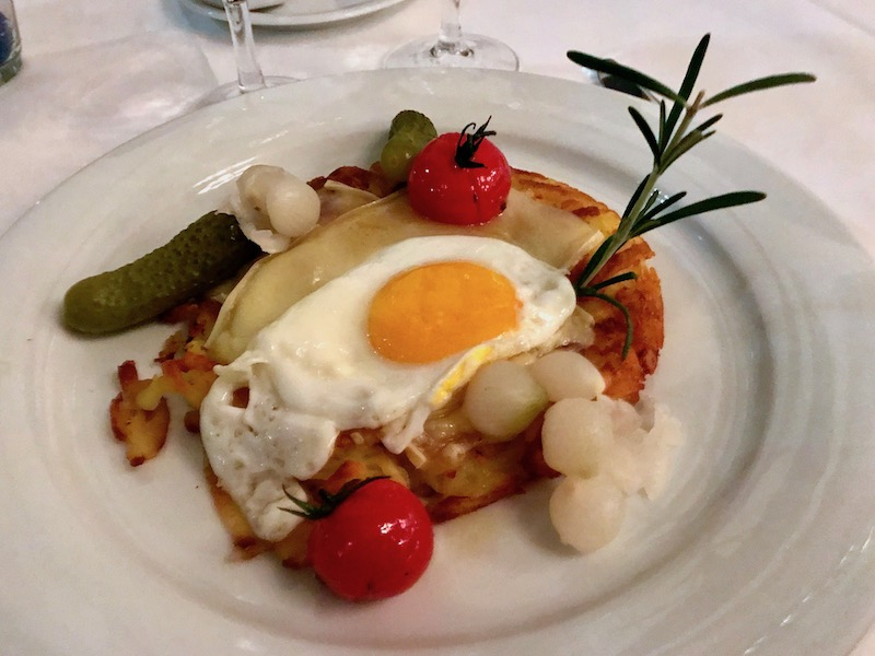 Da Capo Zurich raclette dish