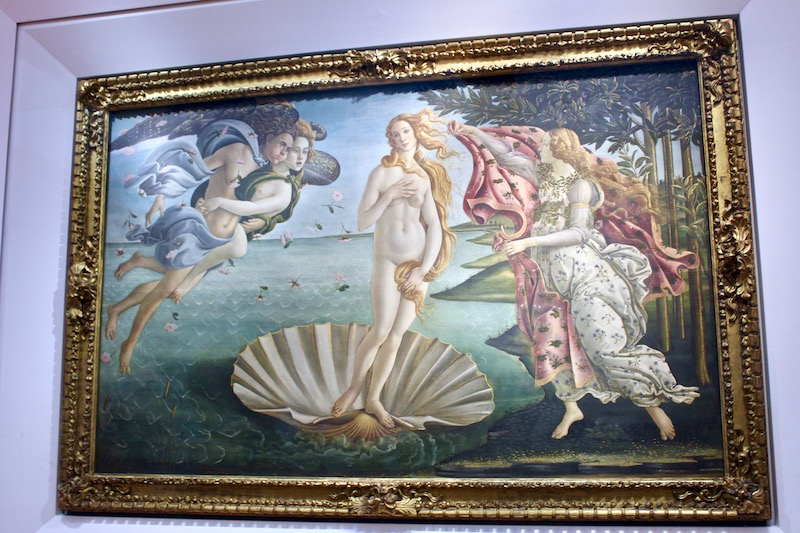 Birth of Venus, Sandro Botticelli, Uffizi Gallery Florence