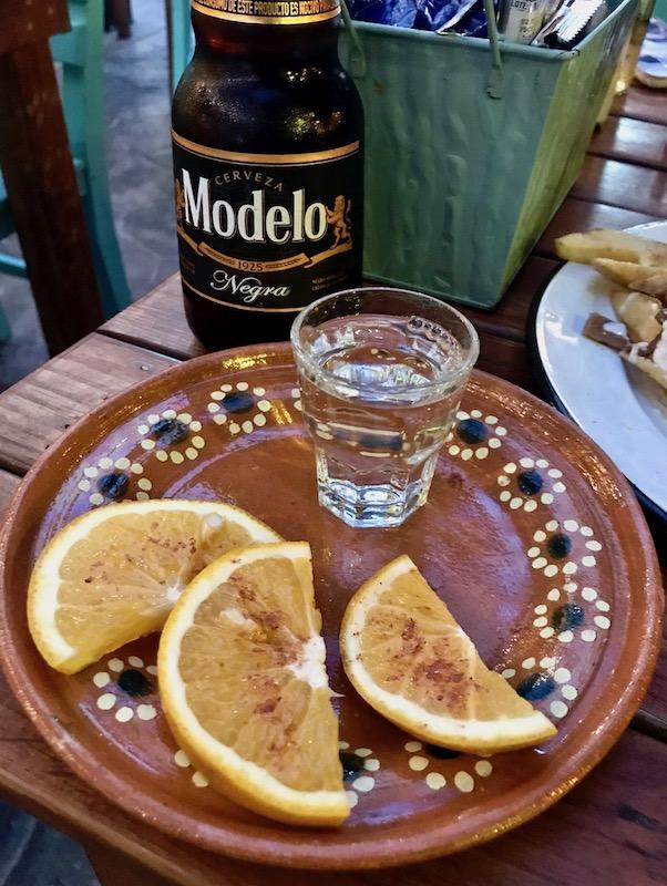 Mezcal shot