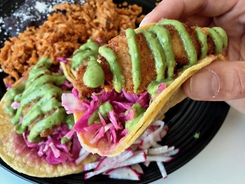 fish tacos at conrads san pedro