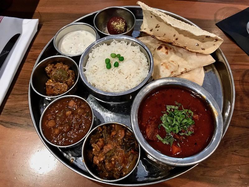 Chauhaun Ale & Masala House meat and three platter