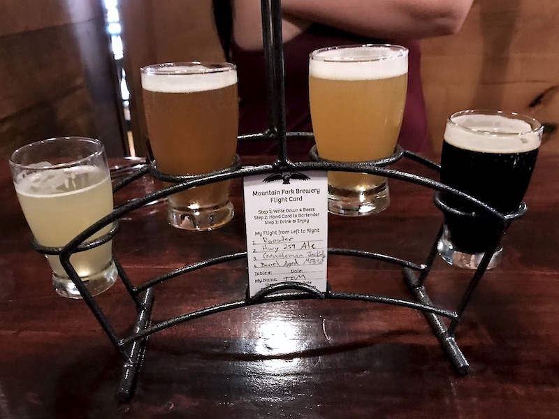 Mountain Fork Brewery beer