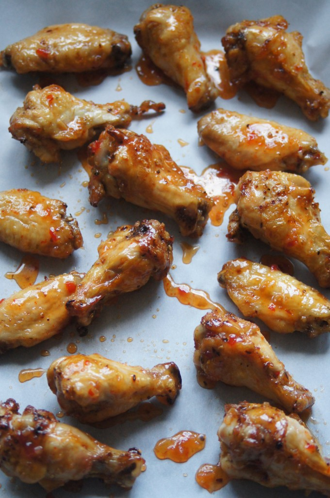 Crispy Baked Thai Chili Chicken WIngs
