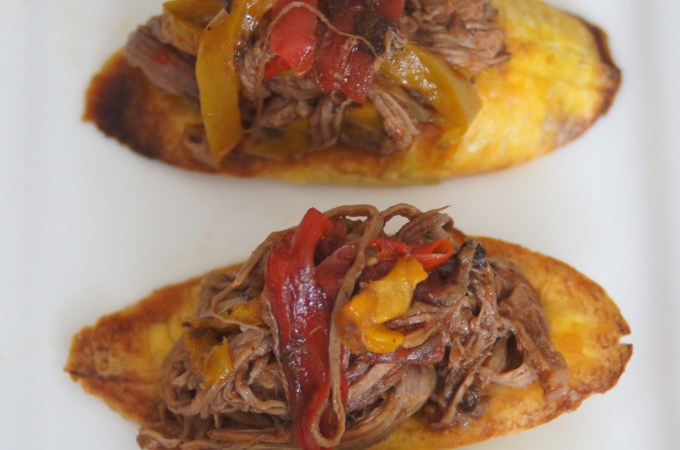 Ropa Vieja with Baked Plantains