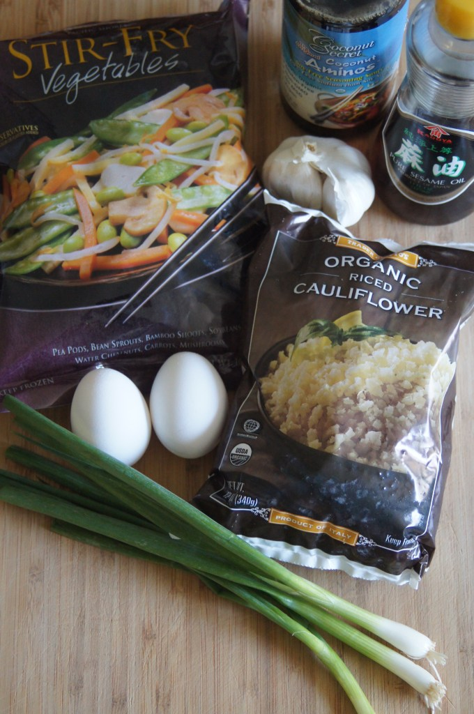 Ingredients for Cauliflower Fried Rice