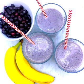 Blueberry Banana Almond Protein Smoothie