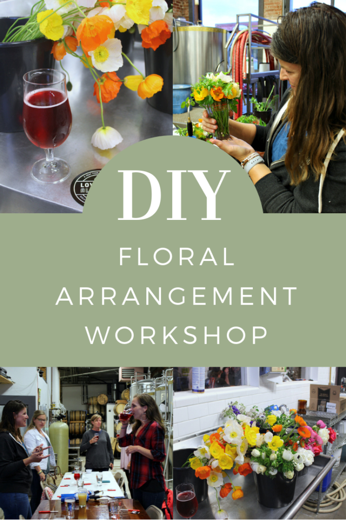 Learn how to arrange flowers with Blooming Betties floral workshop.