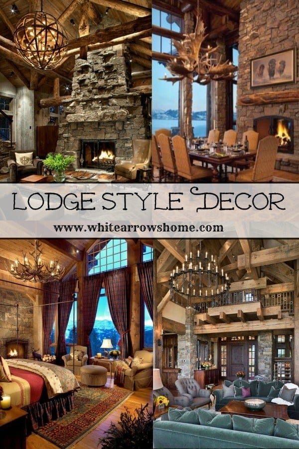 Lodge style decor on Welcome Home Sunday.