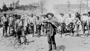 Convict laborers in Fulton County, Georgia, 1895.