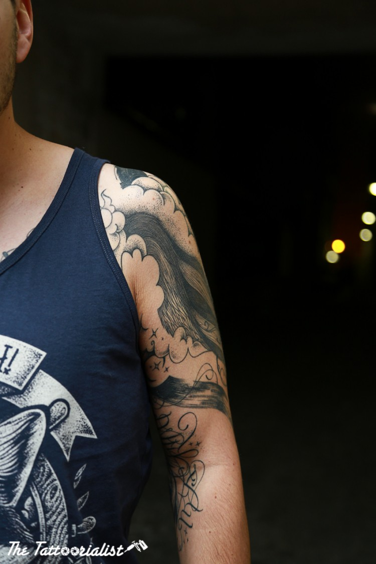 cedric tattooed by Supakitch Bleu noir Paris photo by Nicolas brulez aka The Tattoorialist