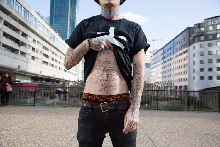 inked man in Paris Théo photos by Nicolas Brulez aka The Tattoorialist
