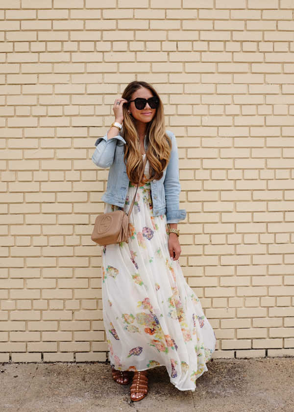 Floral Dress And Jean Jacket