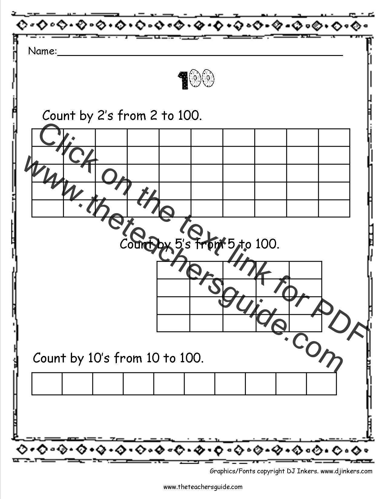 Multiplying 5s Worksheet