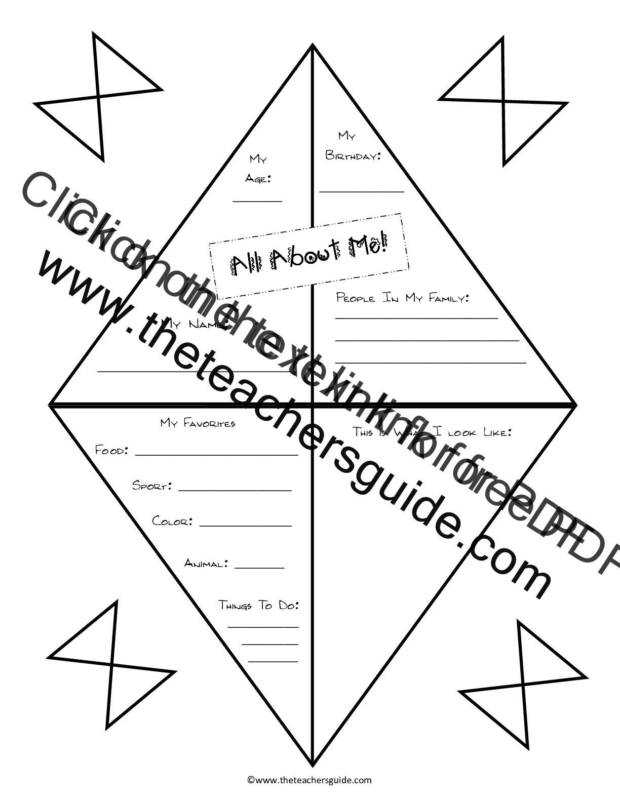 Free Printable All About Me Worksheet For Middle School