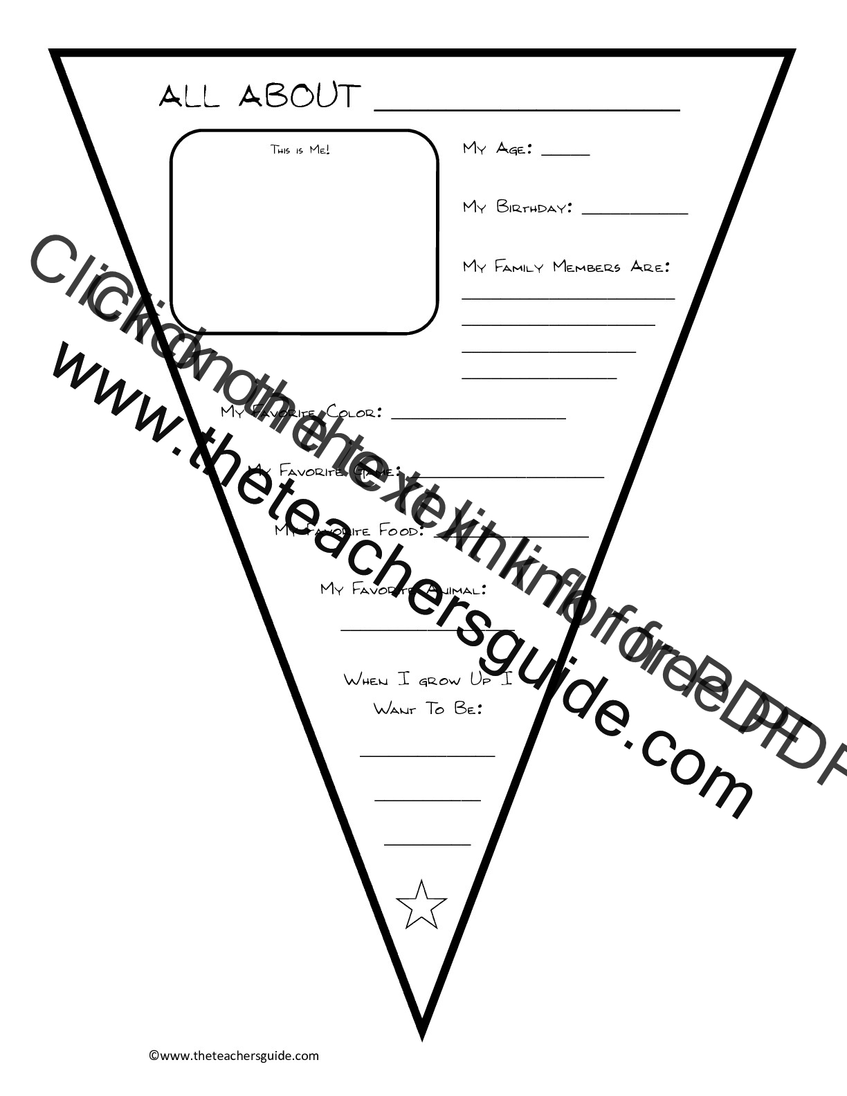 Back To School Printouts From The Teacher S Guide
