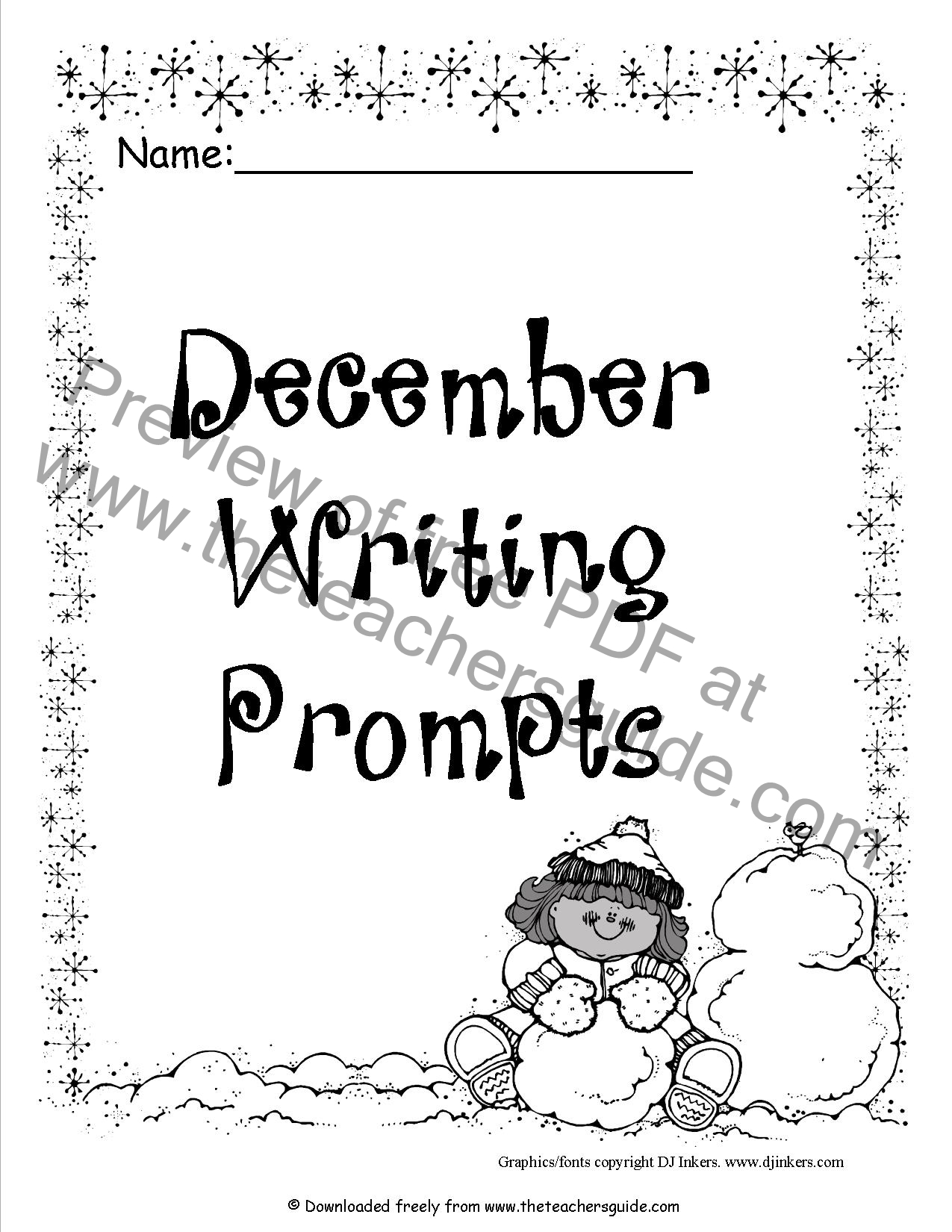 December Journal Prompts First Grade