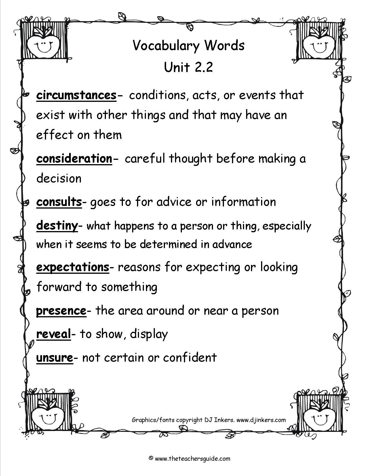 Wonders Fifth Grade Unit Two Week Two Printouts