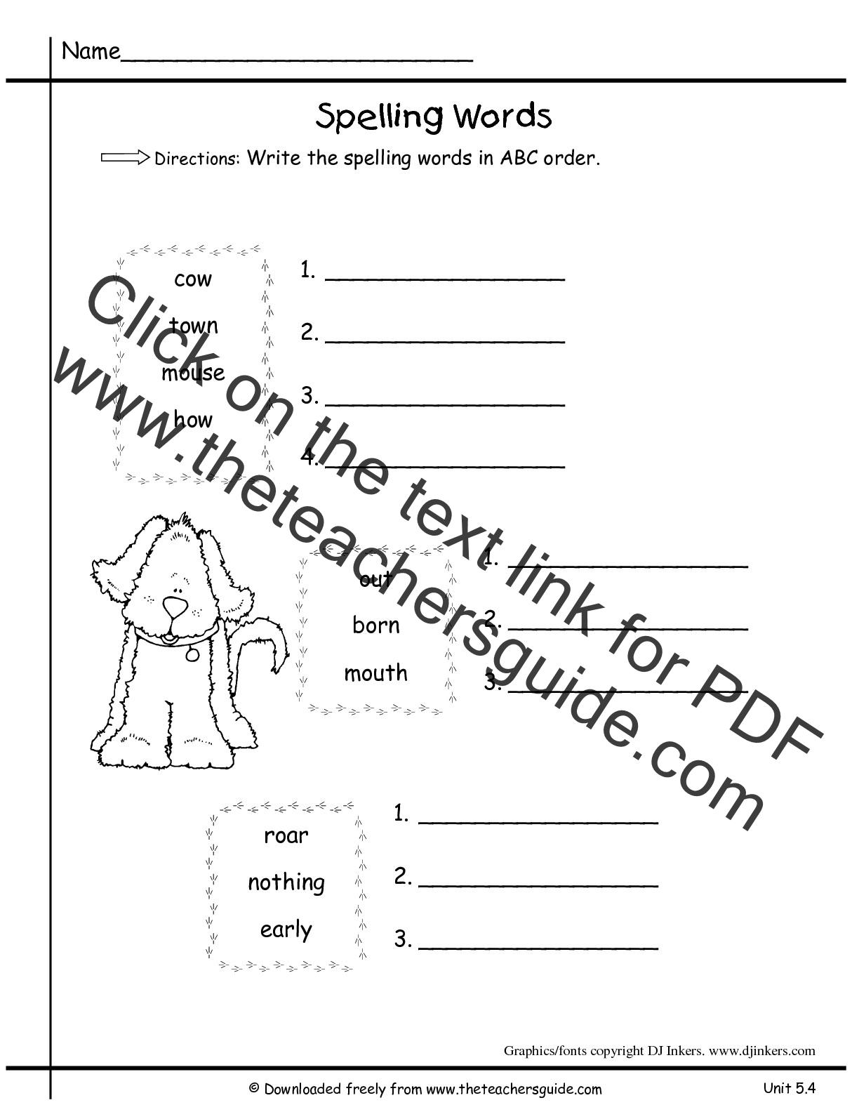 Wonders First Grade Unit Five Week Four Printouts